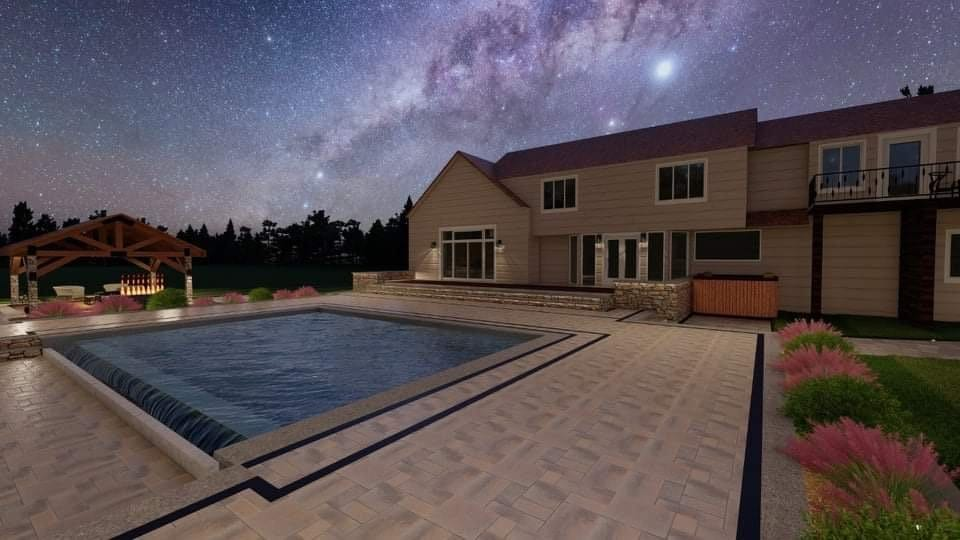 design visualization pool deck