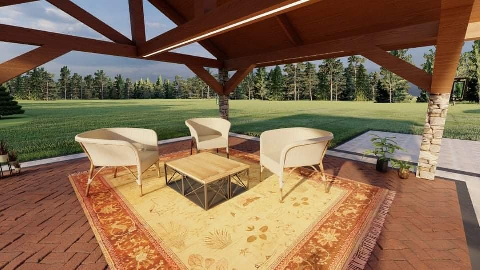 Design visualization_fire pit and patio