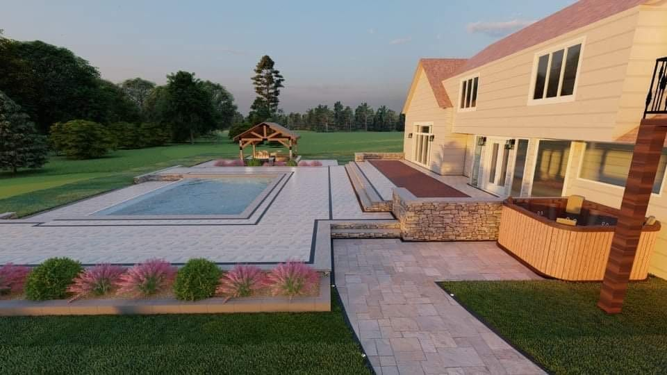 Design visualization - pool and patio